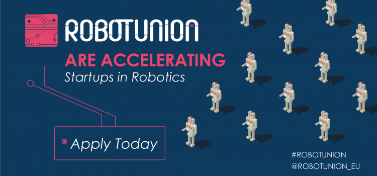 RobotUnion launches its second open call with €4 million public funding for startups and SMEs